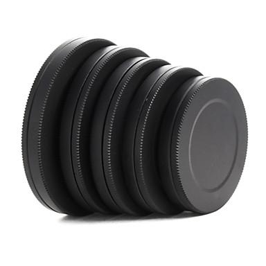 tampa da lente de metal frente filtro traseiro box portátil de proteção 37 / 40,5 / 43/46/49 milímetros