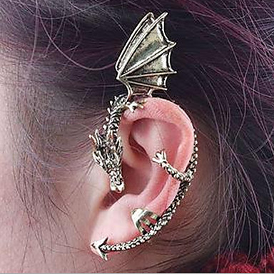 cheap Women's Jewelry-Ear Cuff Climber Earrings Helix Earrings cuff Dragon Cheap Ladies Vintage Gothic Earrings Jewelry Silver / Golden For Halloween Daily Casual