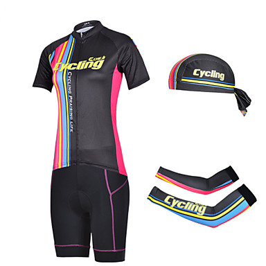 Biciklistička majica s kratkim hlačama Žene Kratkih rukava Bicikl Kratke hlače Rukavi Biciklistička majica Kompleti odjeće Quick dry