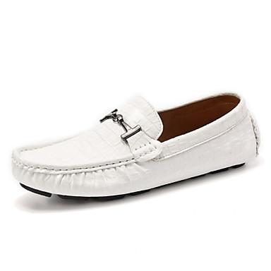 Hombre Zapatos Cuero de Napa Primavera Verano Otoño Confort Zapatos de taco bajo y Slip-On para Casual Oficina y carrera Fiesta y Noche