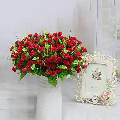7 fejek kiváló minőségű lila virágok selyem virág selyem virág művirág lakberendezési 1db / set