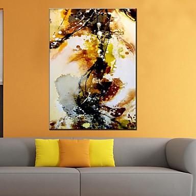 Kézzel festett Absztrakt Vízszintes panoráma, Klasszikus Európai stílus Modern Rusztikus Hagyományos Vászon Hang festett olajfestmény