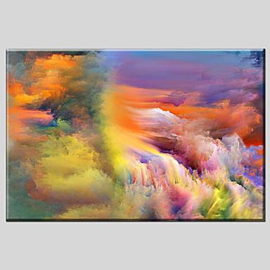 Pintados à mão AbstratoModerno / Clássico / Tradicional / Pastoril / Estilo Europeu 1 Painel Tela Pintura a Óleo For Decoração para casa