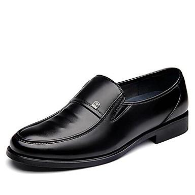 Herrn Schuhe Kunstleder Frühling Herbst formale Schuhe Komfort Loafers & Slip-Ons für Normal Büro & Karriere Schwarz Braun