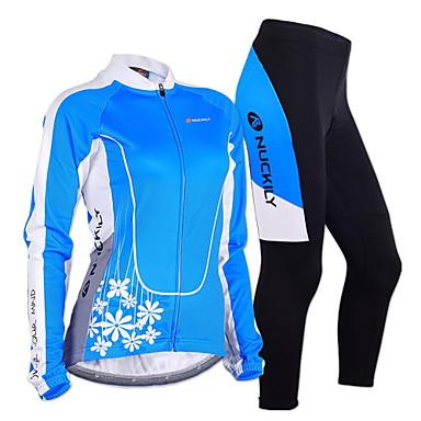 Nuckily Calça com Camisa para Ciclismo Mulheres Manga Longa Moto Conjuntos de Roupas A Prova de Vento Design Anatômico Permeável á
