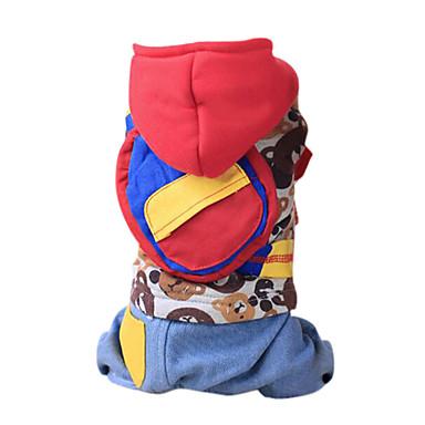Pas Kostimi Izgledi Hoodies Jumpsuits Odjeća za psa Crtani film Braon Crvena Pamuk Kostim Za kućne ljubimce Muškarci Žene Cosplay Moda