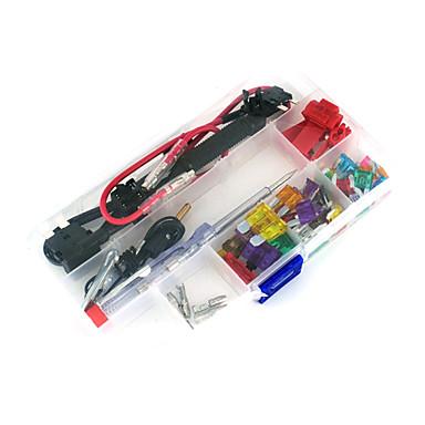 12V Auto-Add-a-Schaltung Blade-Sicherungshahn Adapter atm aps att Klingensicherungshalter, 30pcs Sicherung, Sicherungszieher, Drahtklemme,