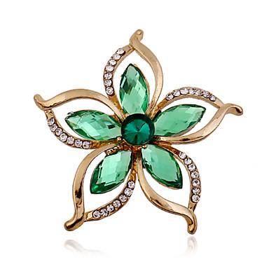 Žene Umjetno drago kamenje / Imitacija dijamanta Broševi - Luksuz / Moda Zelen Broš Za Vjenčanje / Party / Special Occasion