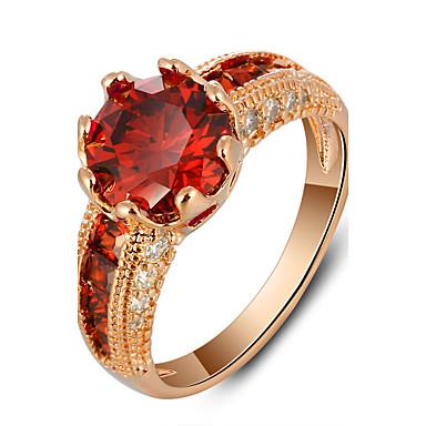 Klasično prstenje Kristal Kubični Zirconia Moda Zlatan Rose Gold Jewelry Party 1pc