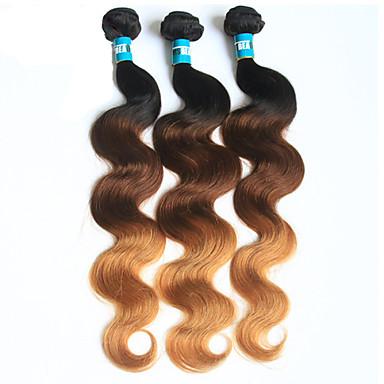 Brazilian Hair Body Wave Virgin Human Hair Others Human Hair Weaves Soft 1b/4/27