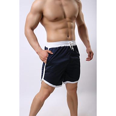 남성용 러닝 반바지 빠른 드라이 높은 호흡 능력(>15.001g) 통기성 바지 반바지 하단 권투 운동&피트니스 레저 스포츠 달리기 테릴린 화이트 블랙 옐로우 블루 L XL XXL