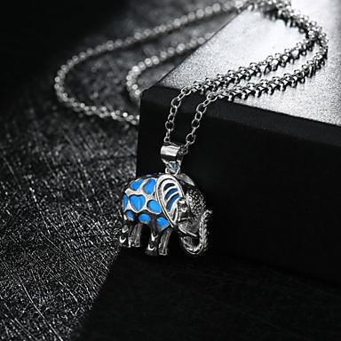 Damen Anhängerketten - Beleuchtet nette Art Modisch Elefant Tier Modische Halsketten Für Hochzeit Party Alltag Normal Sport