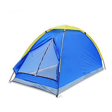 2 אנשים אוהל יחיד קמפינג אוהל אוהל אוטומטי שמור על חום הגוף בידוד חום עמיד ללחות מאוורר היטב עמיד למים עמיד עמיד אולטרה סגול מוגן מגשם