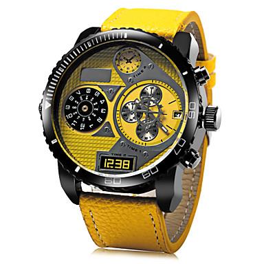 JUBAOLI Homens Relógio Militar / Relógio de Pulso Relógio Casual Couro Banda Amuleto Preta / Azul / Vermelho / SSUO LR626
