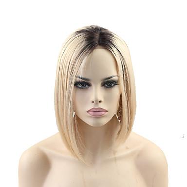 Echthaar Ohne Klebstoff und  Spitze in der Front / Spitzenfront Perücke Glatt Perücke 150% Natürlicher Haaransatz / Afro-amerikanische Perücke / 100 % von Hand geknüpft Damen Medium Echthaar Perücken