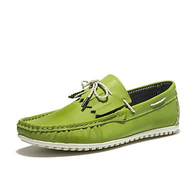גברים נעליים עור נאפה Leather חורף אביב קיץ סתיו נוחות שטוח שרוכים ל קזו'אל לבן שחור ירוק