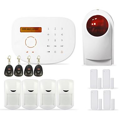 gsm sistema de alarme sem fio da segurança home sem fio suporte do sistema de alarme da câmera IP e teclado RFID