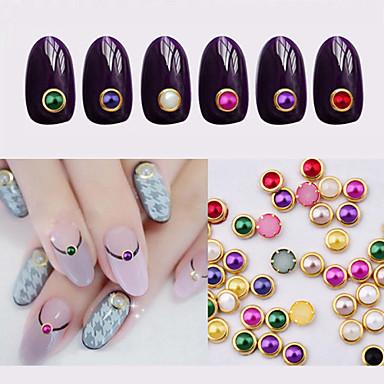 100pcs metal edage nail pearls Andre dekorasjoner Klassisk Daglig Klassisk Smuk / Metall