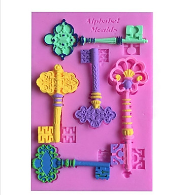 ou shigu metal key DIY leipoo kupit konvehti kakku suklaa silikonimuottia koristelutyökalut bakeware
