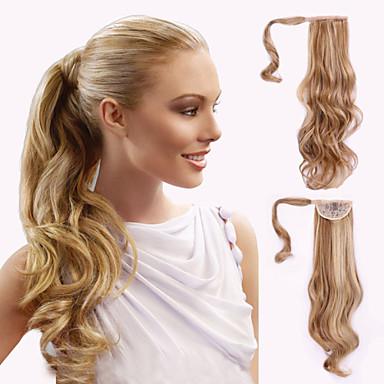 Zum Festkleben Wellen Pferdeschwanz Haarstück Haar-Verlängerung # 24 # 27 # 30 Blonde Regenbogen