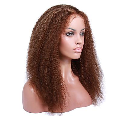 abordables Perruques Naturelles Dentelle-Perruque Cheveux Naturel humain Lace Frontale Sans Colle Lace Frontale Cheveux Brésiliens Bouclé 130% 150% 8-12 pouce avec des cheveux de bébé Cheveux Colorés Ligne de Cheveux Naturelle Perruque