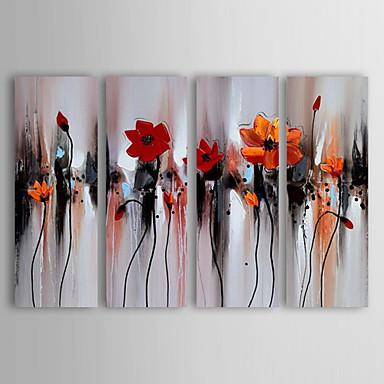 Hang malte oljemaleri Håndmalte - Still Life Moderne Lerret