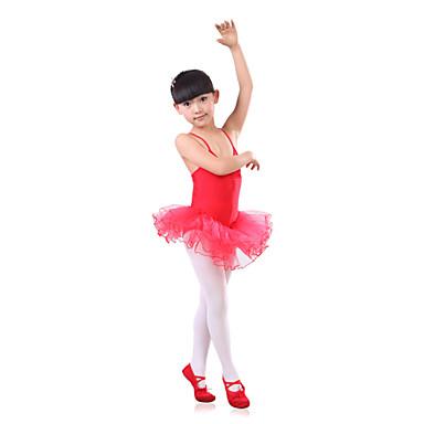 בלט שמלות בגדי ריקוד ילדים אימון ספנדקס / טול קפלים חלק 1 בלי שרוולים גבוה שמלות 110:53cm,120:56cm,130:59cm,140:62cm,150:66cm