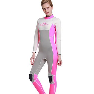 SBART Naisten koot 3mm Dive Skins Sukellushuput Kokokehon märkäpuku Pidä lämpimänä Ultraviolettisäteilyn kestävä Full BodyNeopreeni
