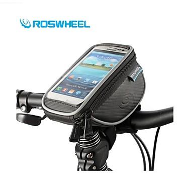 ROSWHEEL Pyörälaukku 1LPyörän ohjaustankolaukku Vedenkestävä Nopea kuivuminen Sateen kestävä Pyörälaukku Nylon Teryleeni Pyöräilylaukku