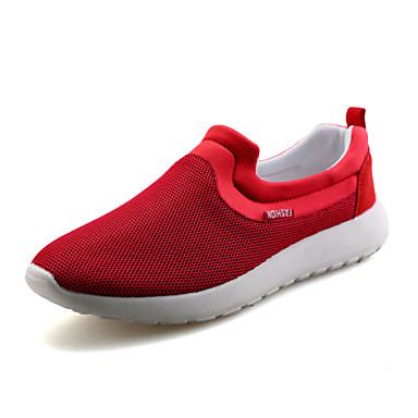 Masculino sapatos Tule Primavera Verão Outono Mocassins e Slip-Ons Caminhada Para Atlético Casual Preto Vermelho Azul
