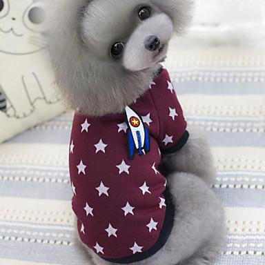 개 티셔츠 블루 / 라일락 핑크 강아지 의류 겨울 / 모든계절/가을 별 캐쥬얼/데일리