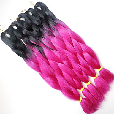 Jumbo laatikko punokset Ombre hiukset hiukset Kanekalon Others Hiuspidennykset 24