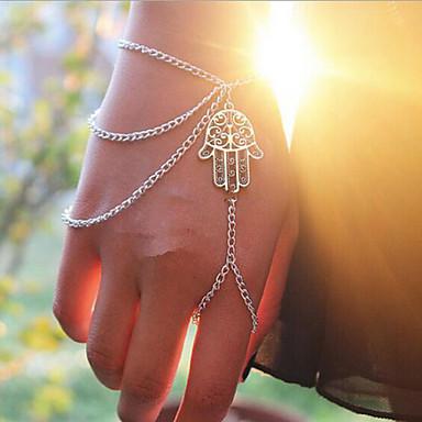 abordables Bracelet-Bracelets Plusieurs Tours Femme Bracelet Bijoux Argent pour Quotidien Décontracté