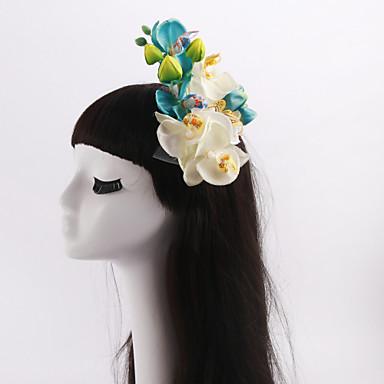 tulle stoff blomster headpiece bryllupsfesten elegant feminin stil