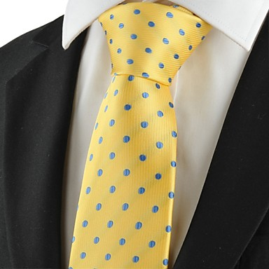 Gravata(Azul / Amarelo,Poliéster)Poás