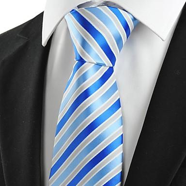 עניבה-פסים(אפור / כחול,פוליאסטר)