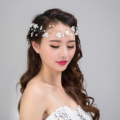 Dame Elegant Krokodillekam - Blomst Perle Krystall Legering