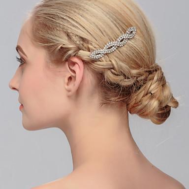 Strass Pentes de cabelo / Decoração de Cabelo com Floral 1pç Casamento / Ocasião Especial / Casual Capacete