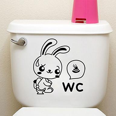 luova pikku kani wc tarroja