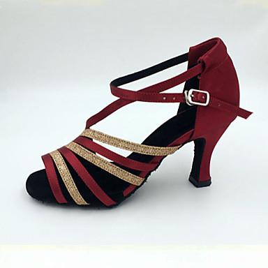 Žene Standardni Saten Sandale Štikle Unutrašnji Seksi blagdanski kostimi Profesionalac Početnik Vježbanje Stiletto potpetica Obala Badem