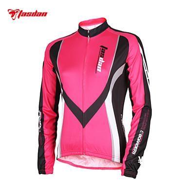 TASDAN Mulheres Manga Longa Camisa para Ciclismo - Vermelho Azul Moto Camisa/Roupas Para Esporte, Secagem Rápida, Resistente Raios