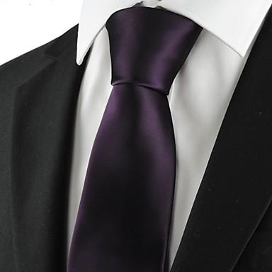 Krawatte(Lila,Polyester)Einfarbig