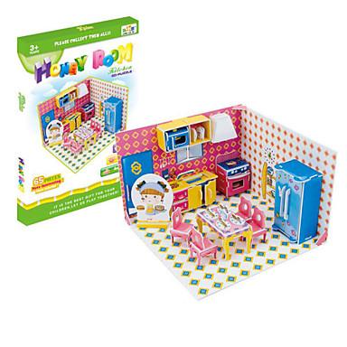 직쏘 퍼즐 조립 완구 키트 과학&디스커버리 완구 장난감 DIY 3D 종이 조각 아동용 선물