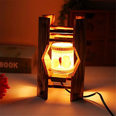 kreative Holz die Muscheln zylindrischen Lampenbehälter Dekoration Schreibtischlampe Schlafzimmerlampe Geschenk für Kind