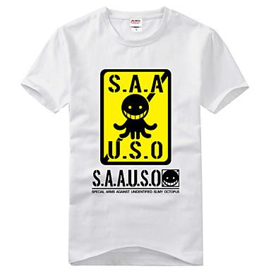 에서 영감을 받다 암살 교실 Korosensei 에니메이션 코스프레 코스츔 코스프레 T 셔츠 프린트 짧은 소매 티셔츠 제품 남여 공용