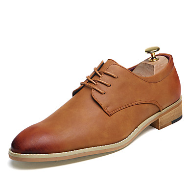 Men's Shoes Synthetic Fall / Winter Formal Shoes Oxfords Black / Brown / Red / Party & Evening