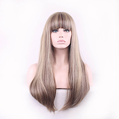 Synthetische Perücken Glatt Blond Synthetische Haare Blond Perücke Damen Kurz Kappenlos