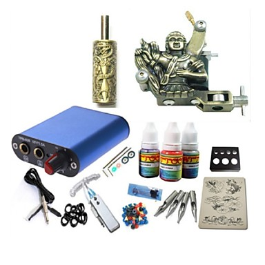 tattoo kit jh573 1 kone virtalähde kahvat 3x10ml muste
