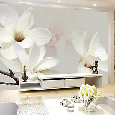 Jammory large scale mural 3d white simple and large tv for Mural 3d simple