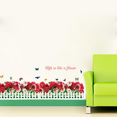 Botânico / Floral / Paisagem Wall Stickers Autocolantes de Aviões para Parede,pvc 50*70CM
